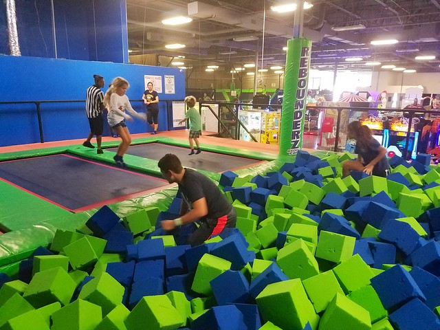 Jumping Into The Foam Pit