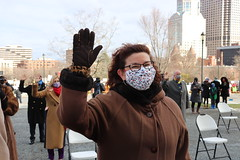 Rep. Cindy Harrison took the oath of office on January 6th during an outside ceremony due to the COVID-19 pandemic.