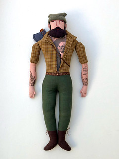 Lumberjack with George Washington Tattoo
