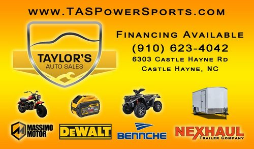 Business card designed for  Taylor's Auto Sales