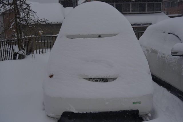 大雪の影響で