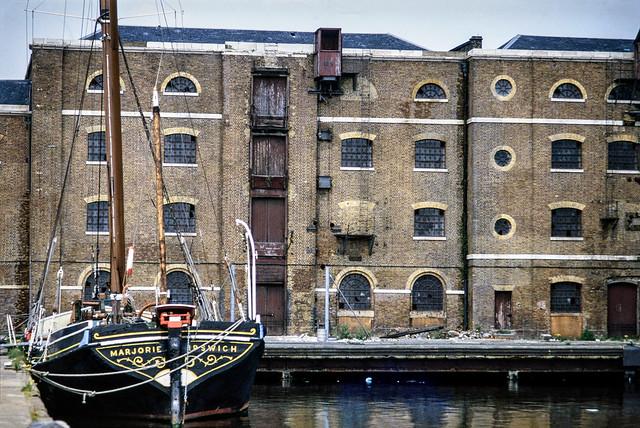Marjorie, St Katherine's Dock, Wapping Tower Hamlets, 1984 84-St KathsDock-01