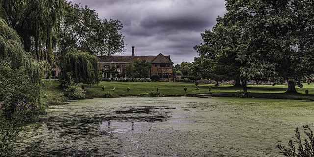 The House & Gardens at Seckford Hall, in Great Bealings, Woodbridge, Suffolk, England.
