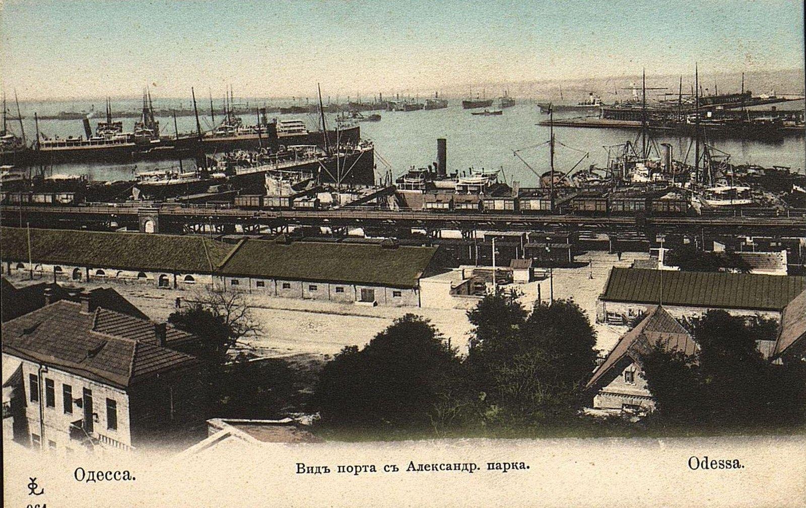 Вид порта с Александровского парка