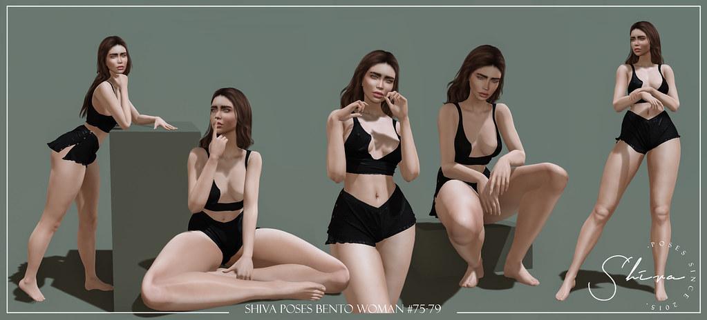shiva poses BENTO woman #75-79