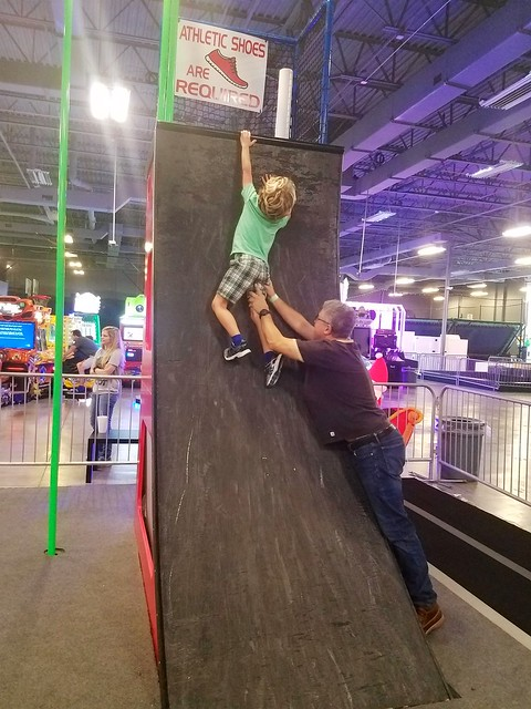Helping Everett Up The Warped Wall