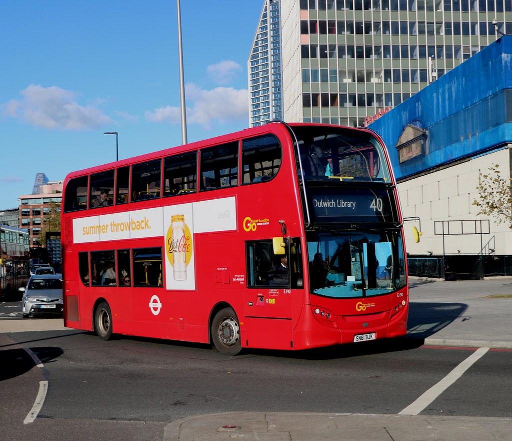 Go Ahead London Central - E190 - SN61BJK