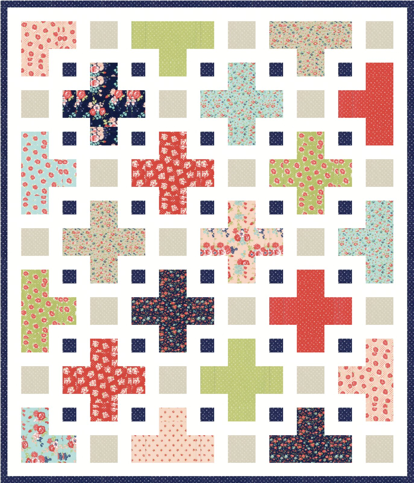 The Violet QAL Mockups - Kitchen Table Quilting