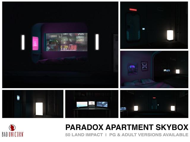 NEW! Paradox Apartment Skybox @ Access