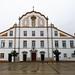 fachada exterior Iglesia y Colegio Jesuita en Praça da República Portimao Algarve Portugal