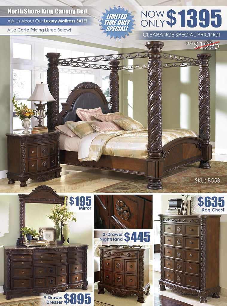 North Shore King Canopy Bed_ClearanceALaCarte_B553_2021