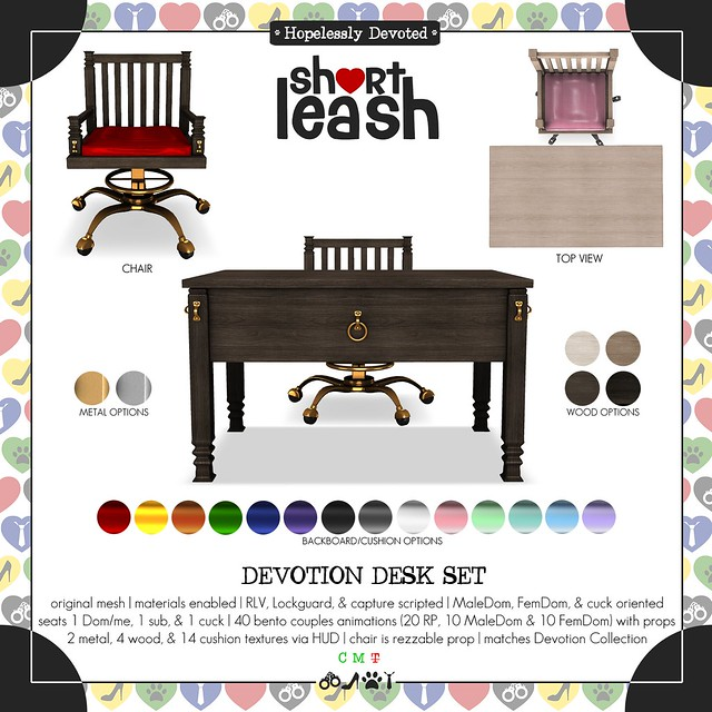 .:Short Leash:. Devotion Desk Set