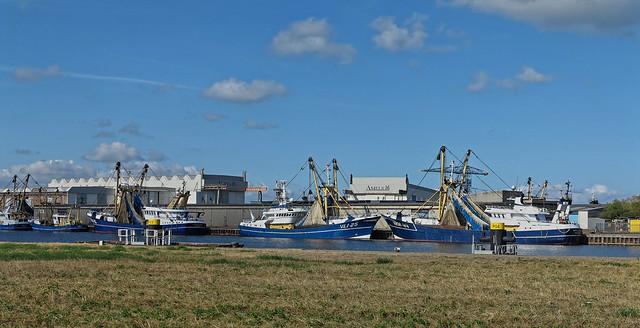Vlissingen, 1e Binnenhaven, vissersboten