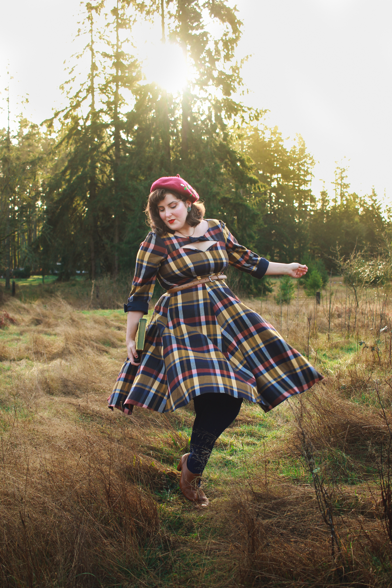 Miss Candyfloss Tartan Dress