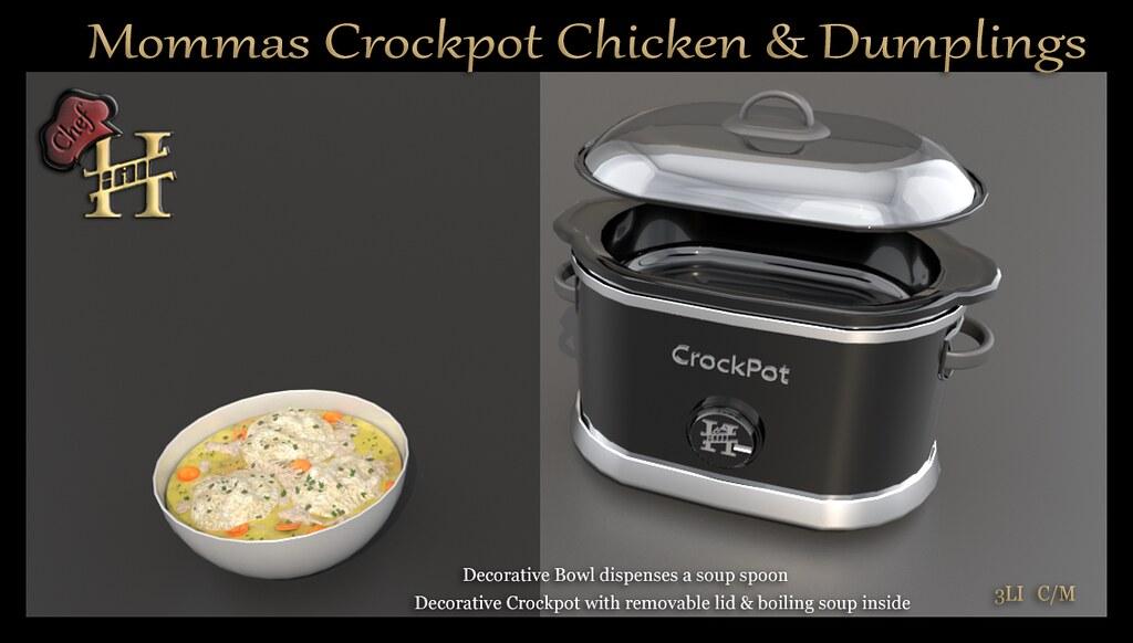 Mommas Crockpot Chicken & Dumplings