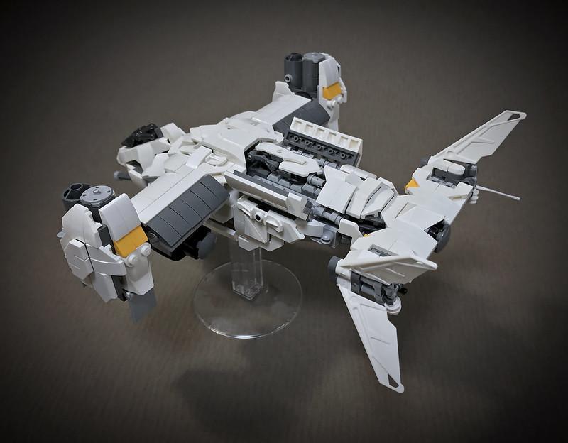 LEGO VTOL Transport Aircraft_11