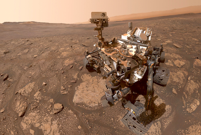 This is the most recent selfie from NASA's Curiosity Mars rover.