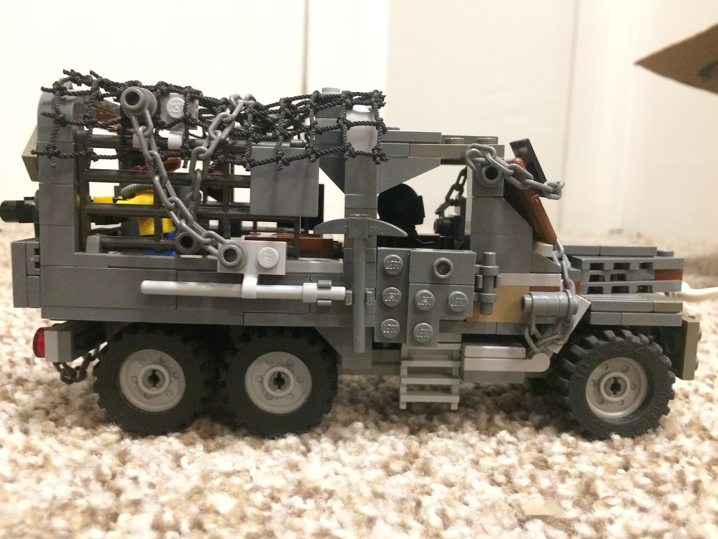 Post-Apocalyptic 3-Ton Truck Right Side