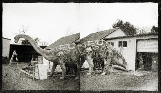 Dinosaur repair diptych