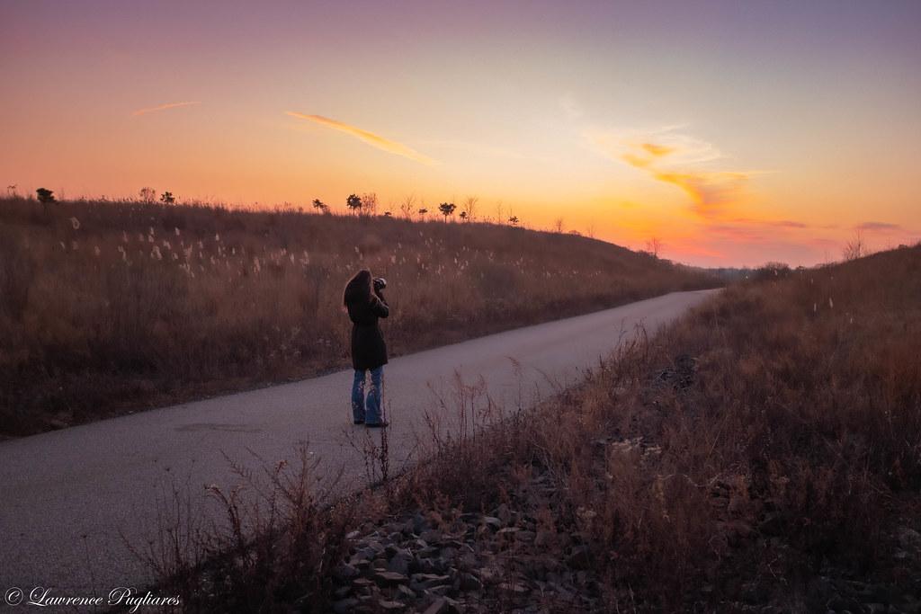 Krystle at sunset - Brookfield Park, Staten Island, New York