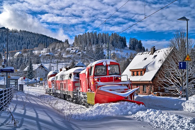 Winterdienst im höchsten DB-Bahnhof