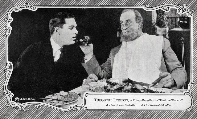Lloyd Hughes and Theodore Roberts in Hail the Woman (1921)