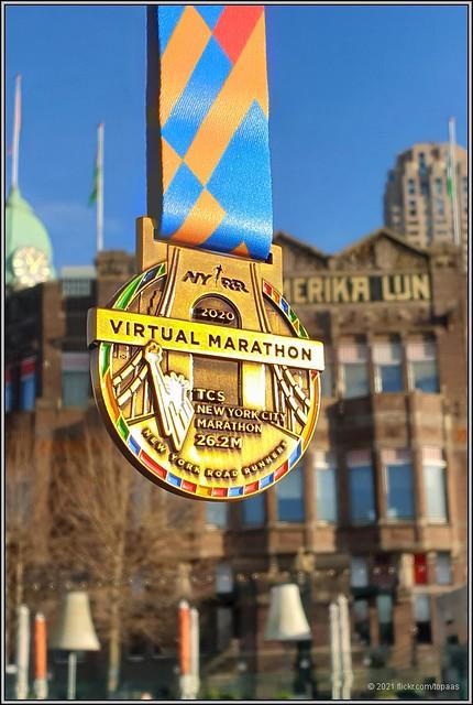 2021-01-10 Medaille Virtuele New York Marathon