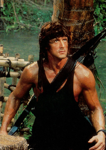 Sylvester Stallone in Rambo - First Blood Part II (1985)