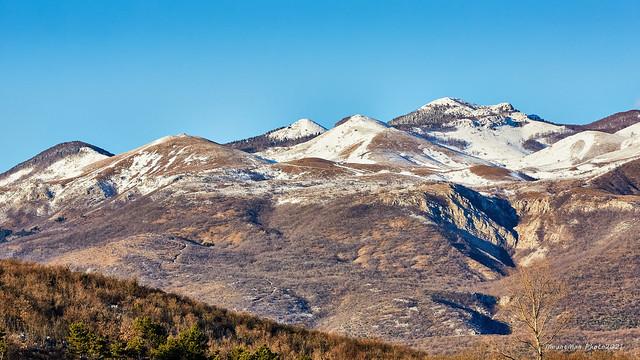 Vrhovi Grobničkih Alpi pod snijegom