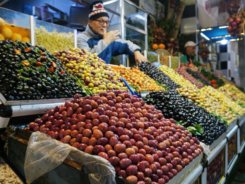 Meknes market olives