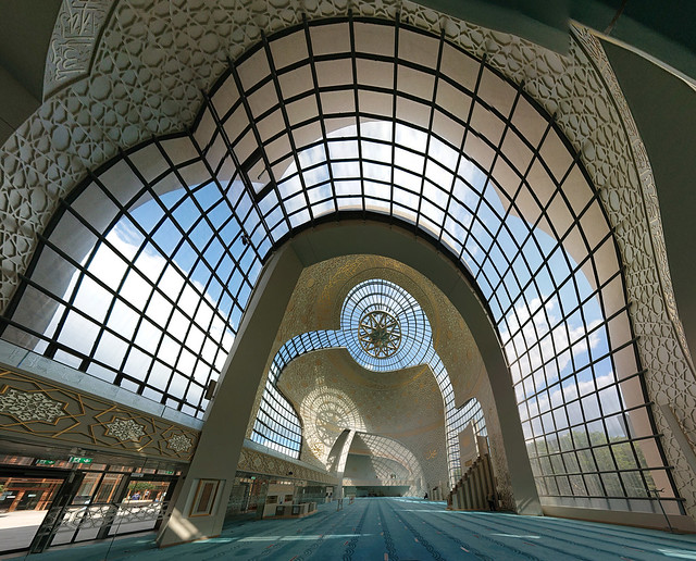 Inside the Central Mosque in Cologne