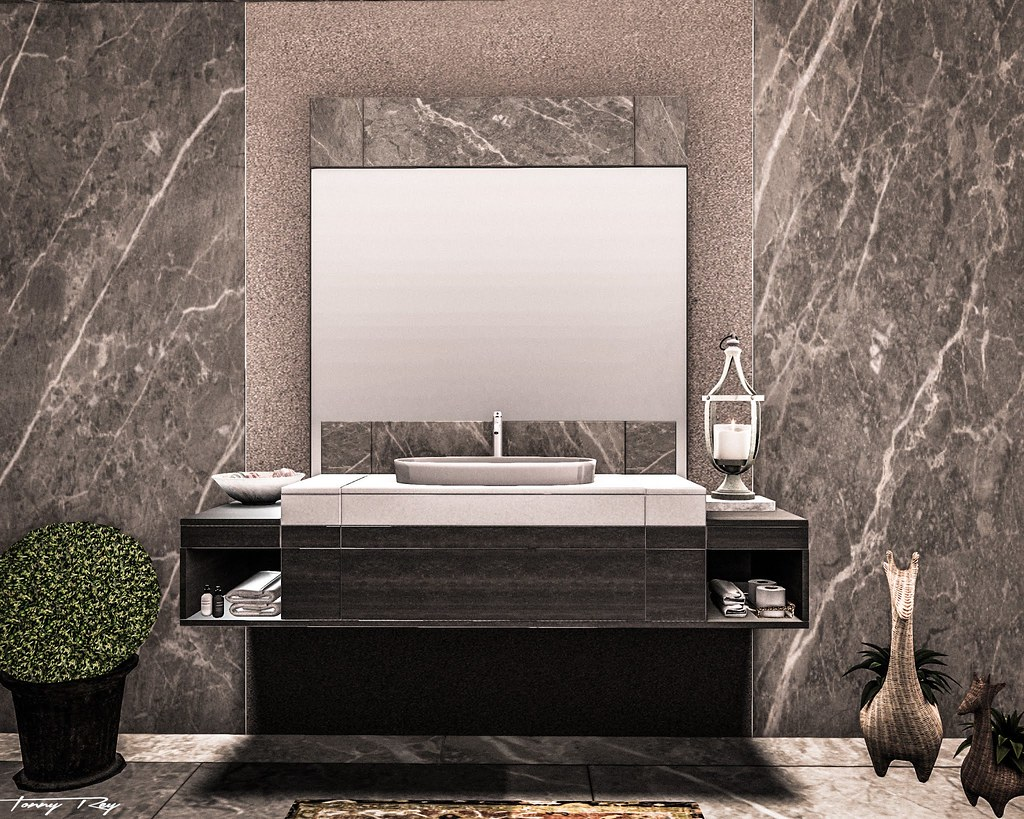 Amalfi Mirror and Sink as seen by Tonny Rey - all copyrights belong to the artist
