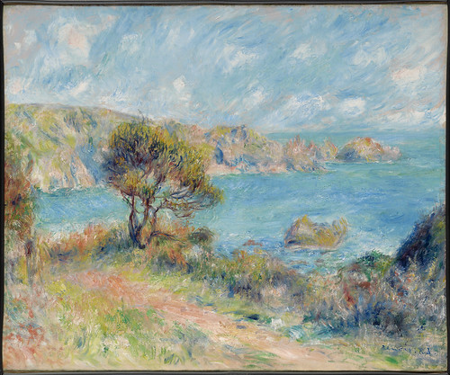 pierreaugusterenoir blickaufguernsey viewatguearnsey clarkartinstitute williamstown impressionismus impressionism