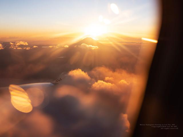 Wings. Fuji Mountain. light.