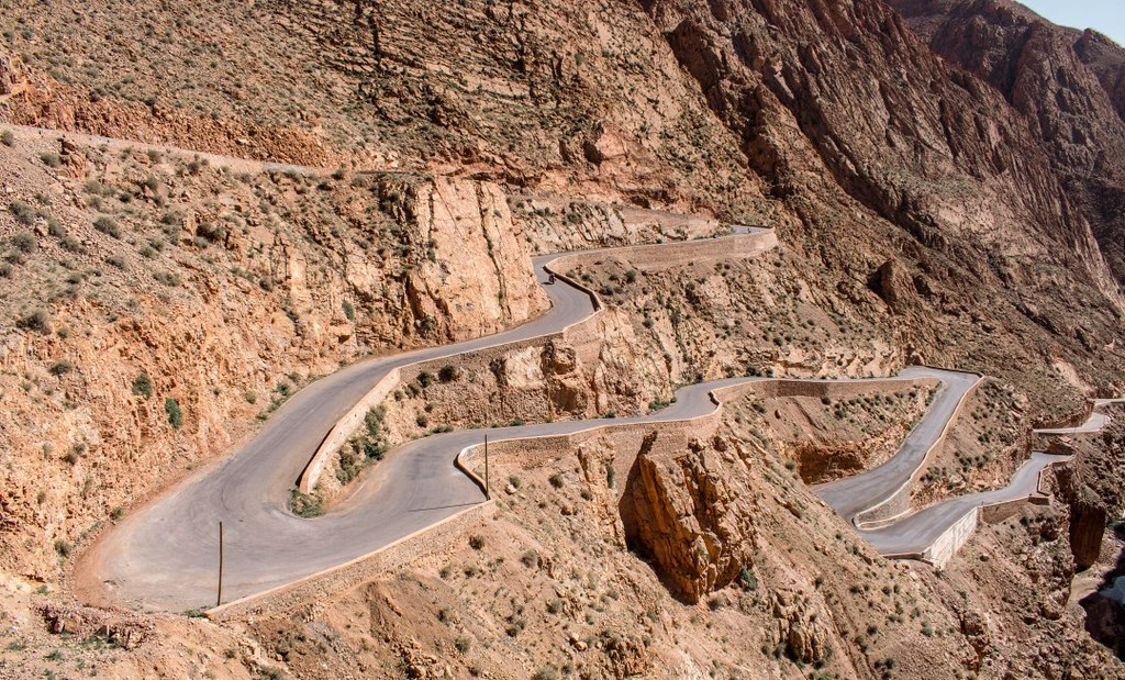 Dadès Gorge Road in the High Atlas Mountains, Morocco