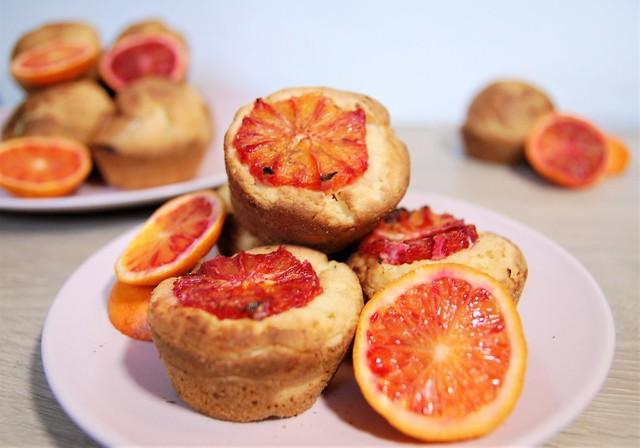 muffins sans gluten sans lactose à l'orange sanguine