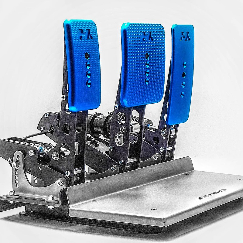 Hybrid Racing Simulations 3D Machined Billet Aluminium Pedal Faces For The Heusinkveld Pedals Sprint