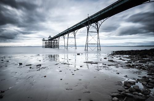clevedon clevedonpier pier somerset landscape england bristolchannel uk beach sand clouds longexposure seascape coast coastallandscape coastal nikond300 nikon rocks pebbles