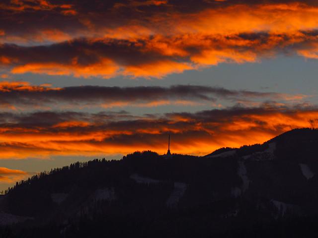sunrise above Mugel mountain