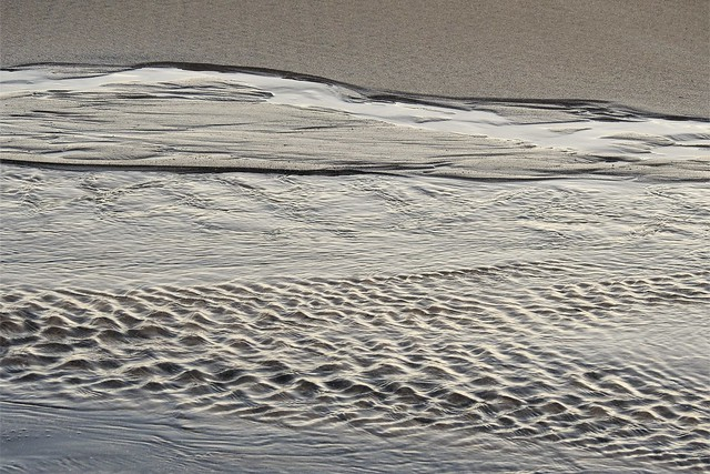 Water and Sand Textures - Newbiggin-By-The-Sea