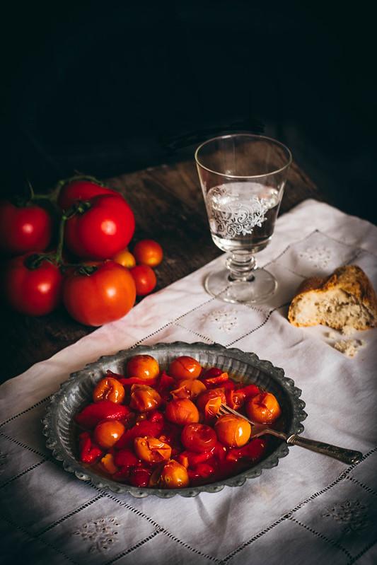 asado de pimientos y tomate Cherry