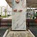 escultura monumento a Nuno Mergulhão ingeniero y alcalde en Alameda de la Plaza de la República Portimao Algarve Portugal