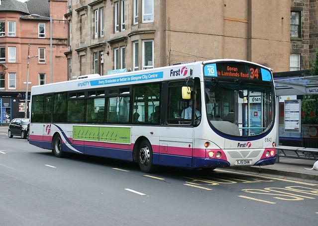 First Glasgow SJ51 DHN (61643; ex-SV654) | Route 34 | Battlefield Road, Mount Florida