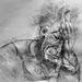Self portrait as Giacometti
