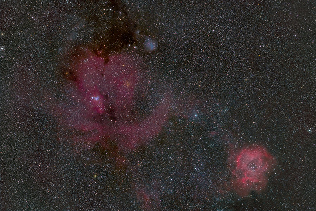 Rosette and Cone Nebulae