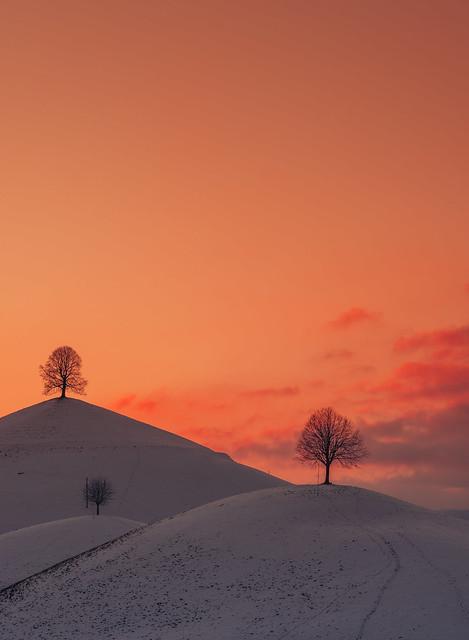 three hills sunset
