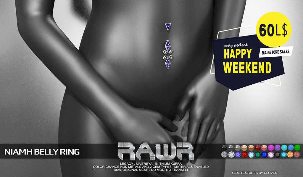 RAWR! Niamh Belly Ring HW