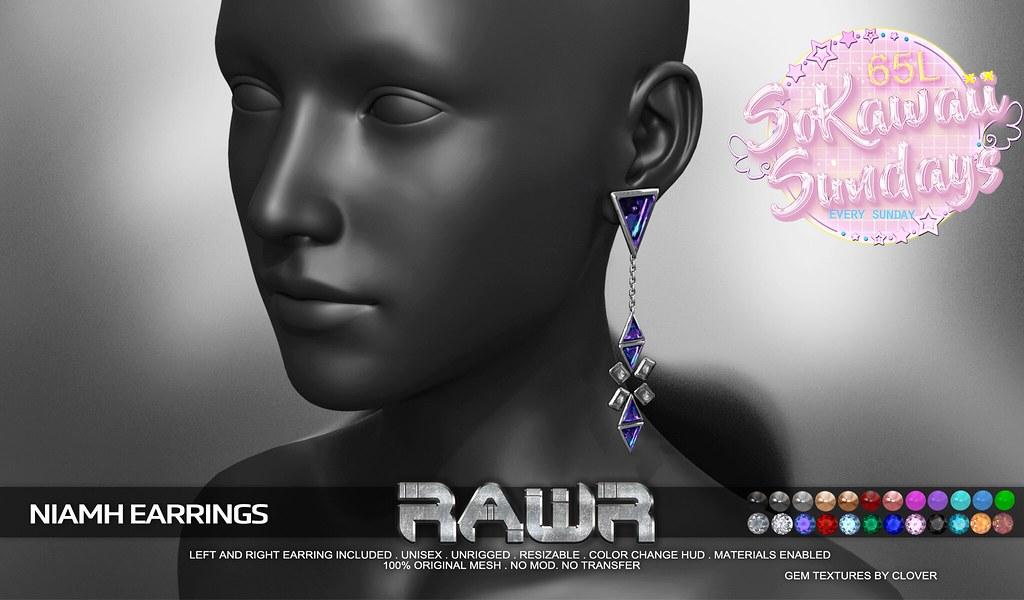 RAWR! Niamh Earrings SKS