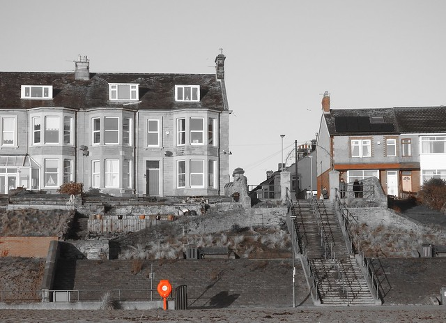 Seafront Buildings, Steps and Selective Colour