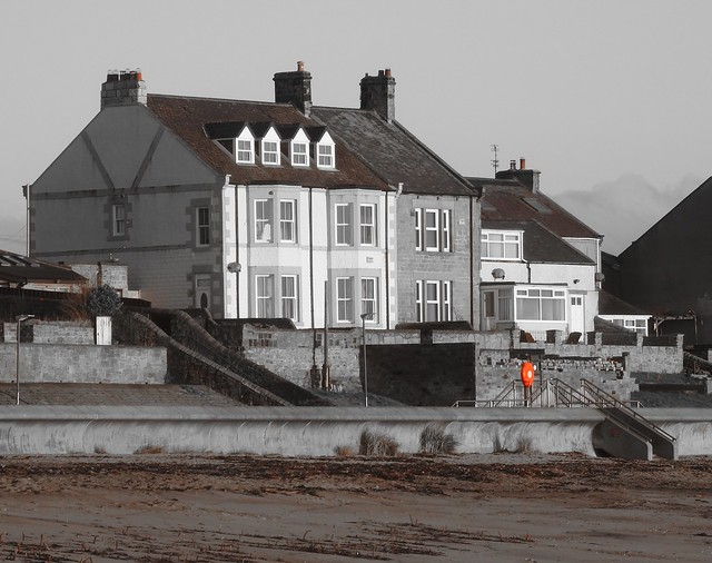 Seafront Architecture and Red Life-Belt